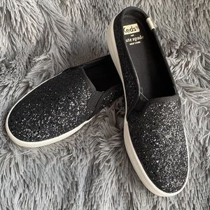 Keds x Kate Spade Double Decker Black Glitter Mule